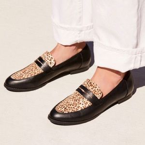 free people lou lou leopard penny loafer